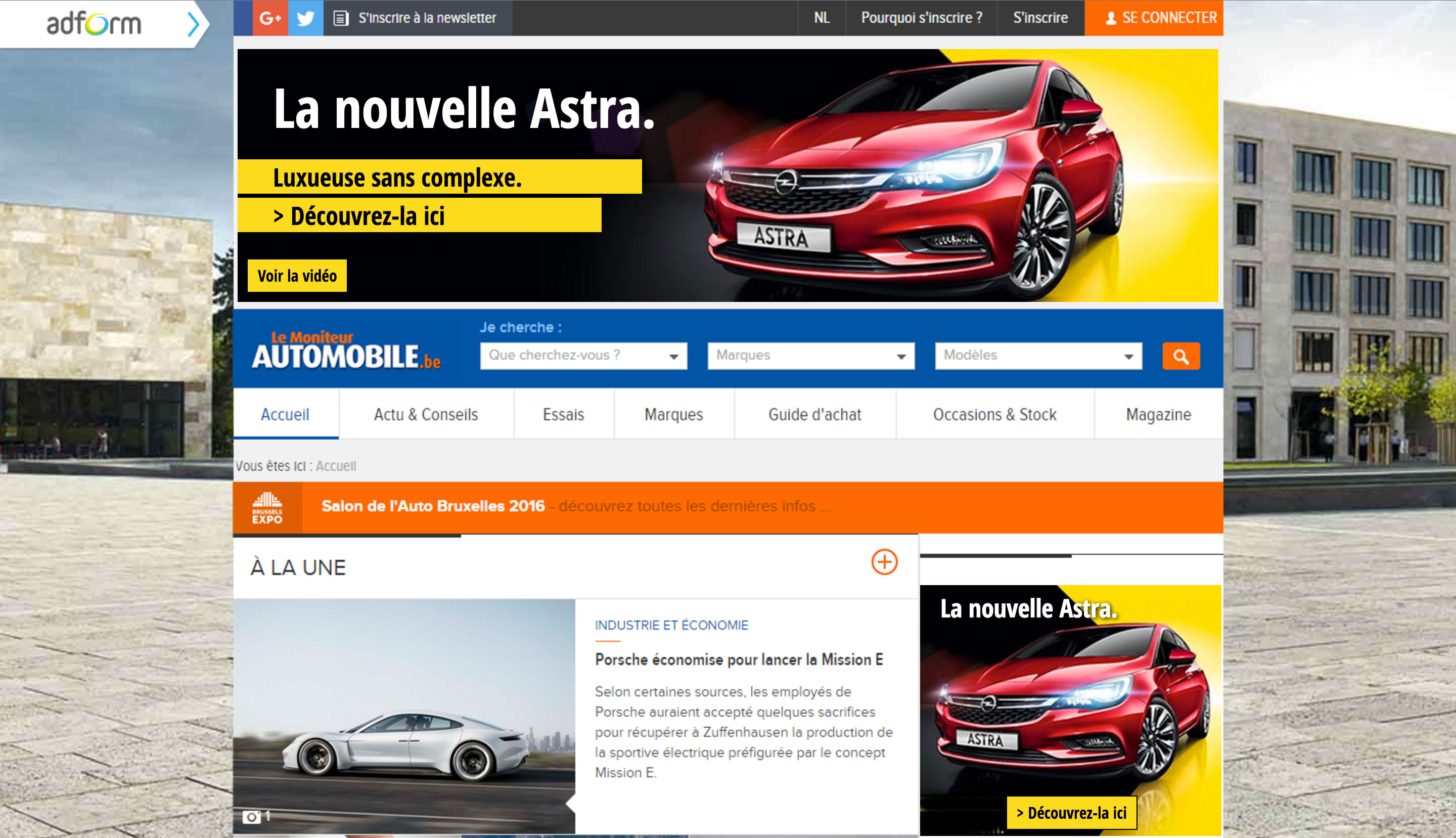 Opel Astra advertising - Le Moniteur Automobile